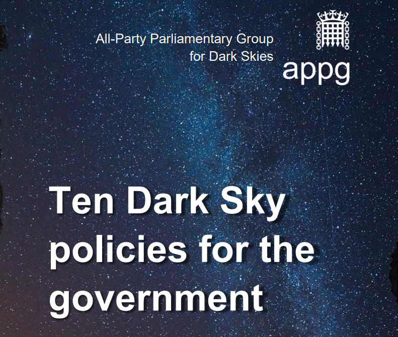 'Ten Dark Sky policies for the government' has been published!